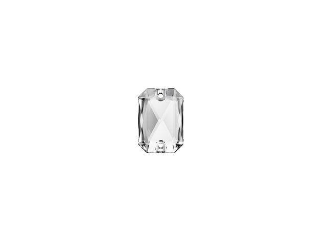 EMERALD CUT SEW-ON 14MM CRYSTAL