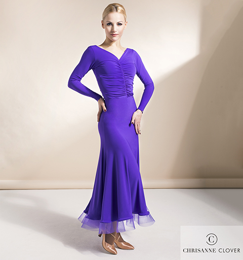 ALLURE BALLROOM SKIRT EXTRA SMALL PURPLE