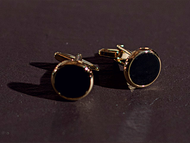 CUFFLINKS BOX OF 2 - BLACK