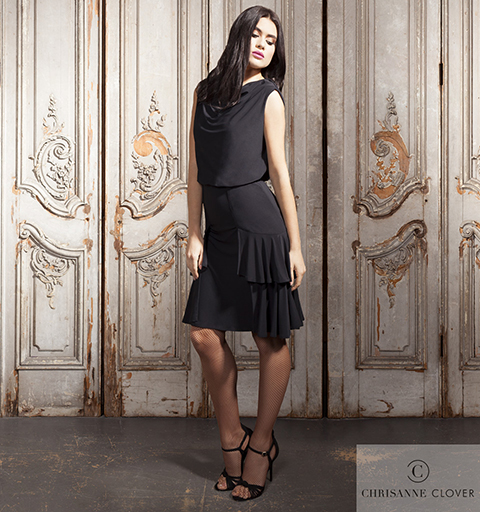 CHELSEA LATIN SKIRT MEDIUM BLACK