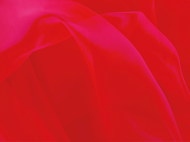 CRYSTAL ORGANZA FLUORESCENT RED