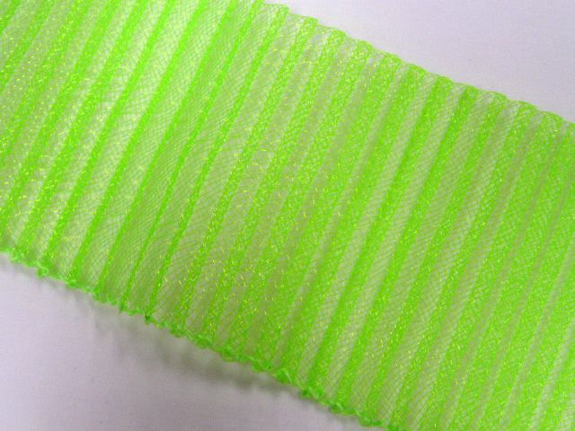 PLEATED CRINOLINE 77MM ELECTRIC GREEN