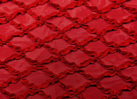 DIAMOND FRILL STRETCH NET RED