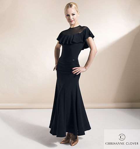 EMPRESS BALLROOM SKIRT EXTRA SMALL BLACK