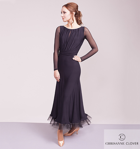 EVERMORE BALLROOM DRESS EXTRA SMALL BLAC