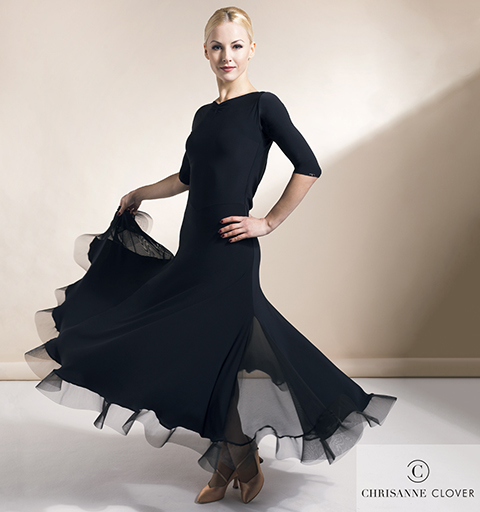 EVOKE BALLROOM DRESS EXTRA SMALL BLACK