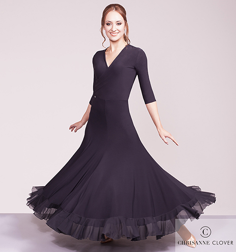 FLAWLESS BALLROOM SKIRT EXTRA SMALL BLAC