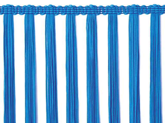 STRETCH TASSEL FRINGE 30CM ELECTRIC BLUE