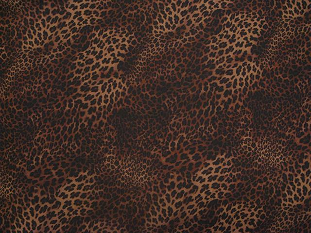 CHEETAH PRINT ON GEORGETTE BLACK-BROWN