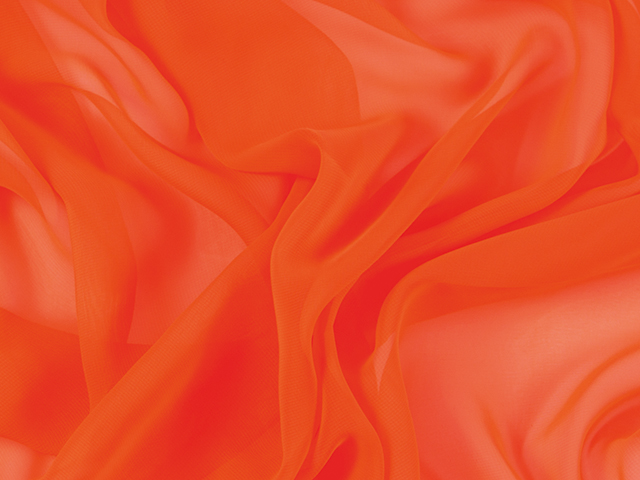 CREPE CHIFFON ORANGE