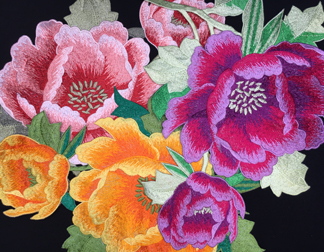 IMPERIAL EMBROIDERED FLOWER MO