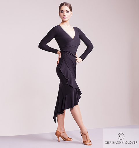 HYPNOTIC LATIN DRESS MEDIUM BLACK