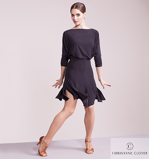 ILLUMINATE LATIN DRESS LARGE BLACK
