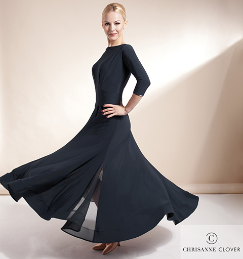 IMPERIAL BALLROOM DRESS EXTRA SMALL BLAC