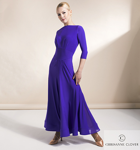 IMPERIAL BALLROOM DRESS EXTRA SMALL PURP
