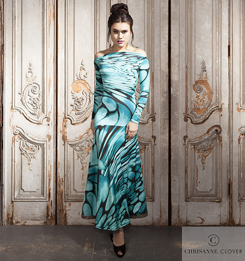 KENSINGTON BALLROOM DRESS LARGE ABSTRACT