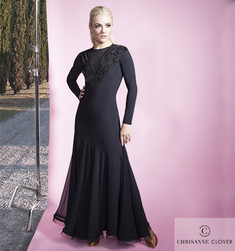 TANIA LACEY DRESS BLACK EXTRA SMALL