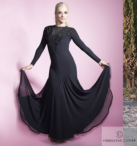 TANIA LACEY DRESS BLACK MEDIUM