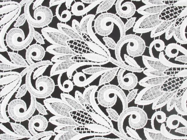 MORNING FLOWER GUIPURE LACE WHITE