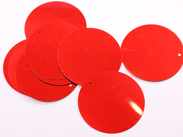 LOOSE SEQUINS 50MM RED