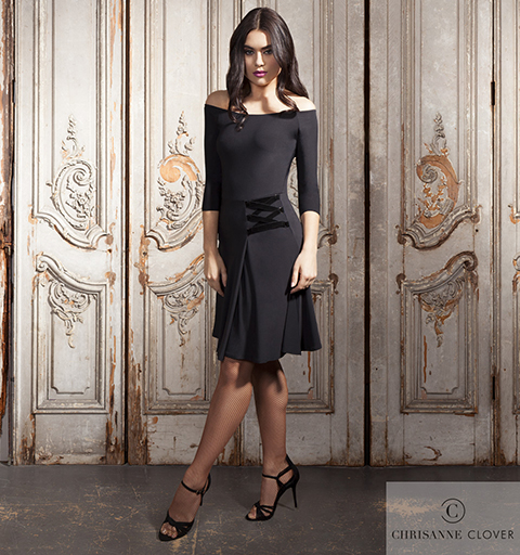 MANHATTAN LATIN DRESS MEDIUM BLACK