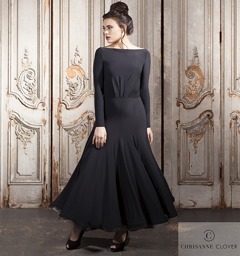 MELROSE BALLROOM DRESS EXTRA SMALL BLACK