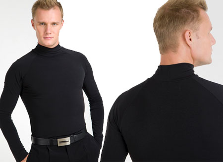 MEN POLO TOP-BLACK-LARGE