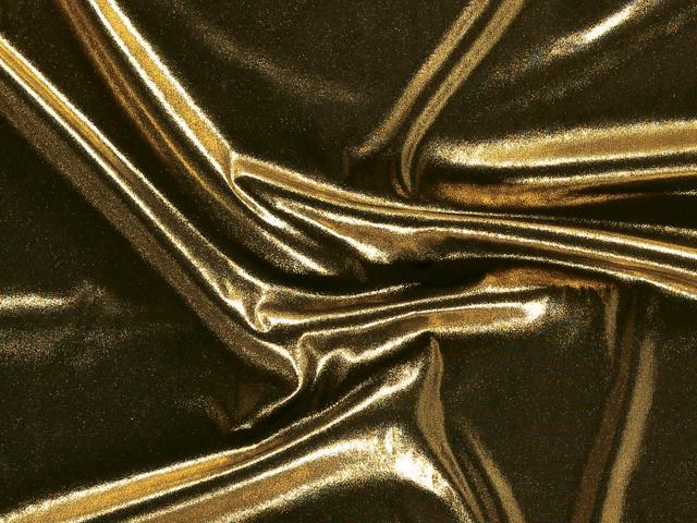 STRETCH ANTIQUE SHIMMER GOLD ON BLACK