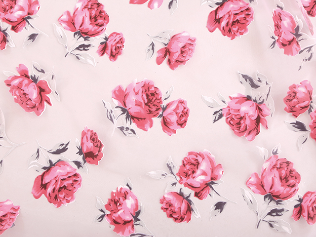 ANNABEL FLORAL PRINT ON ORGANZA