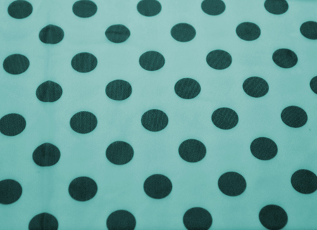 POLKA DOT STRETCH NET HAWAII BLUE
