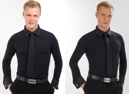 MENS DELUXE  SHIRT BLACK 44 (17H)