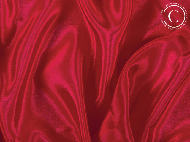 SATIN CHIFFON RED