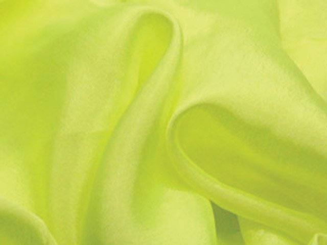 SATIN CHIFFON TROPIC LIME