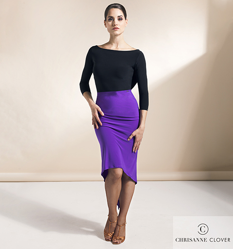 SEDUCTION LATIN SKIRT LARGE PURPLE RAIN