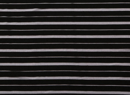 SHEER DOUBLE STRIPE LYCRA BLACK