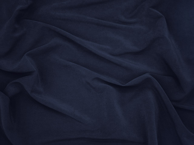 SUEDE STRETCH GABARDINE NAVY
