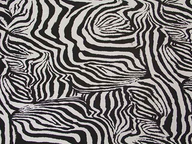 ZEBRA PRINT ON LYCRA BLACK-WHITE