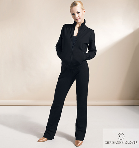 CHRISANNE CLOVER TRACKSUIT LARGE BLACK