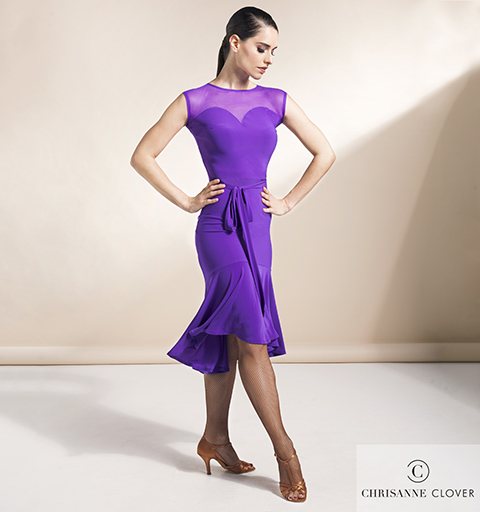 VERVE LATIN DRESS LARGE PURPLE RAIN