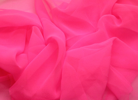 LUXURY GEORGETTE CERISE