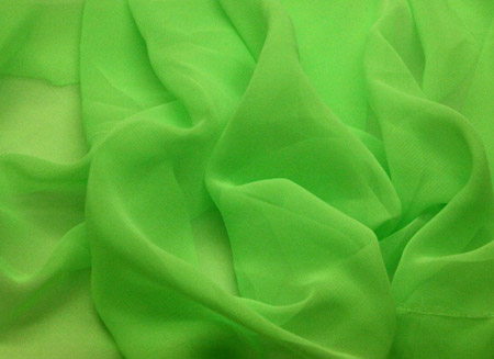 GEORGETTE FLUORESCENT GREEN