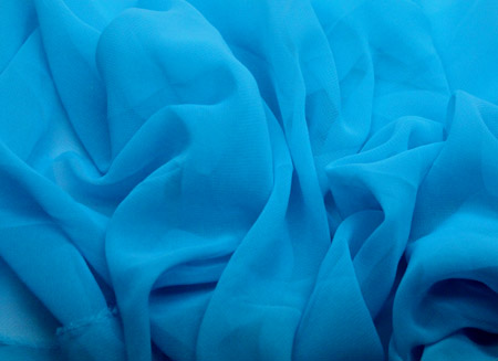 GEORGETTE TURQUOISE BLUE