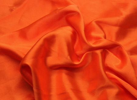 STRETCH SATIN ORANGE