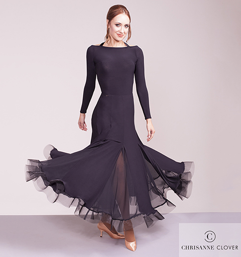 WHISPER BALLROOM SKIRT BLACK