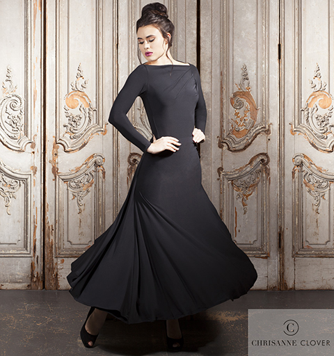 WINDSOR BALLROOM SKIRT EXTRA SMALL BLACK
