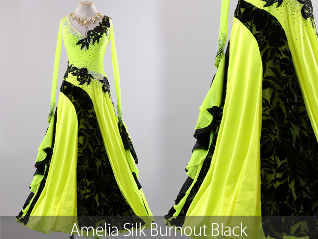 AMELIA SILK BURNOUT BLACK