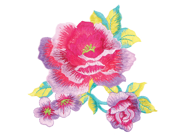 ANNABELLE EMBROIDERED FLOWER MOTIF MULTI