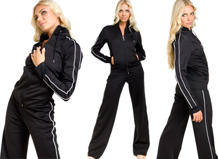 CRYSTAL CLOVER LADIES TRACKSUIT-SML