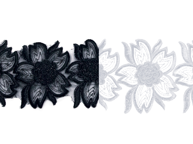 EXOTIC FLOWER RIBBON