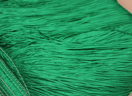 TACTEL STRETCH FRINGE 15CM EMERALD